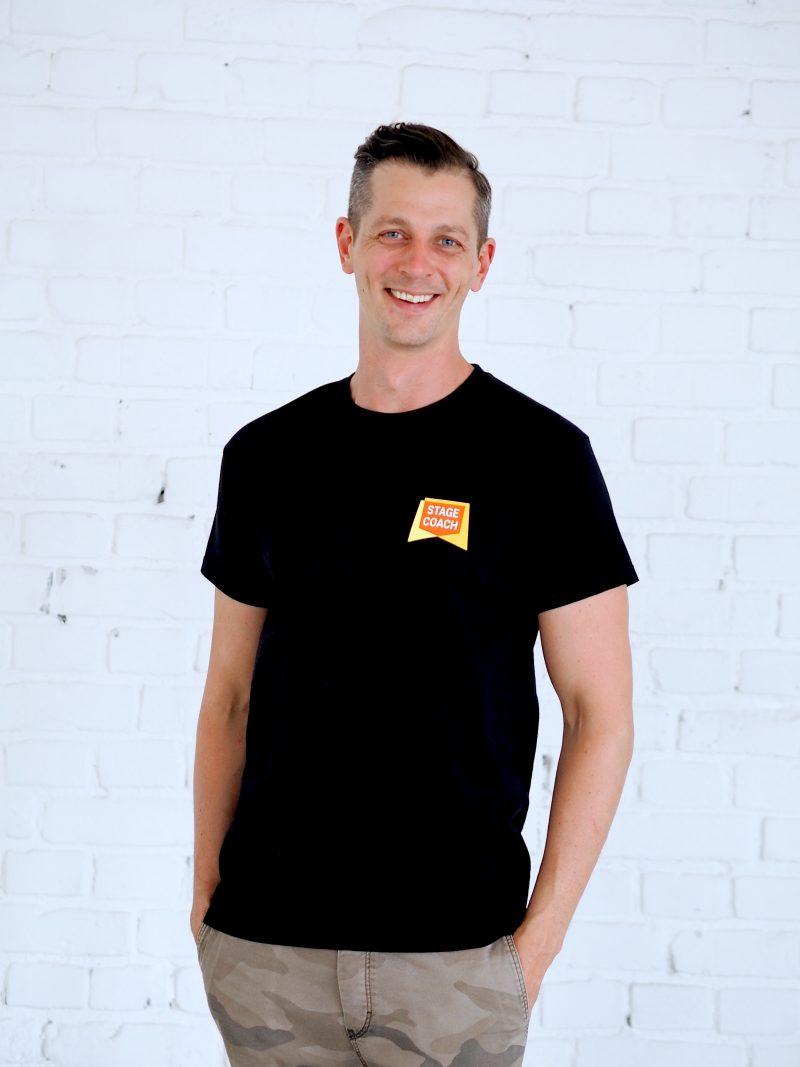 T-Shirt schwarz für Erwachsene, kleines Logo