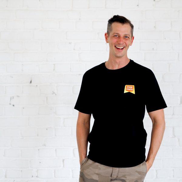 Active T-Shirt für Erwachsene, schwarz