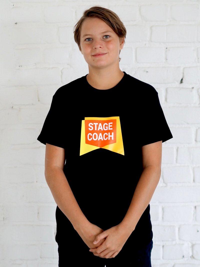 T-Shirt schwarz für Kinder, grosses Logo