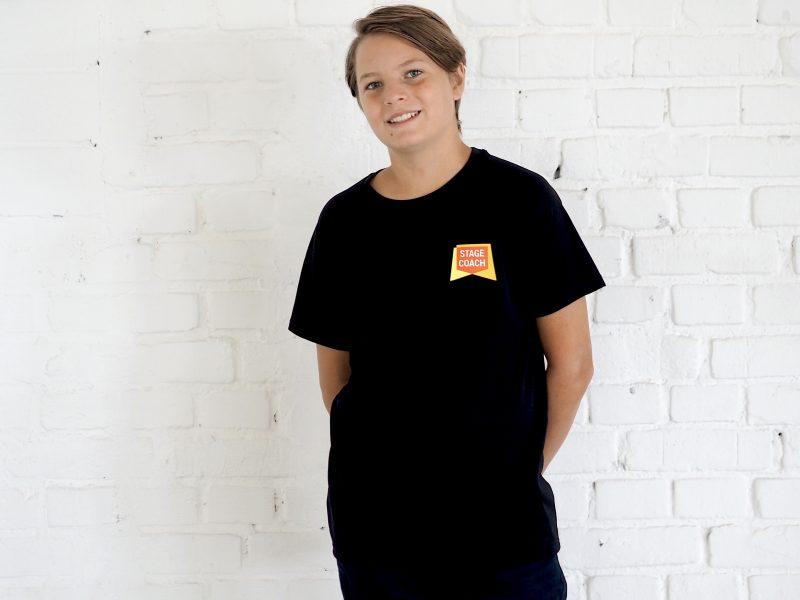 Active T-Shirt für Kinder, schwarz